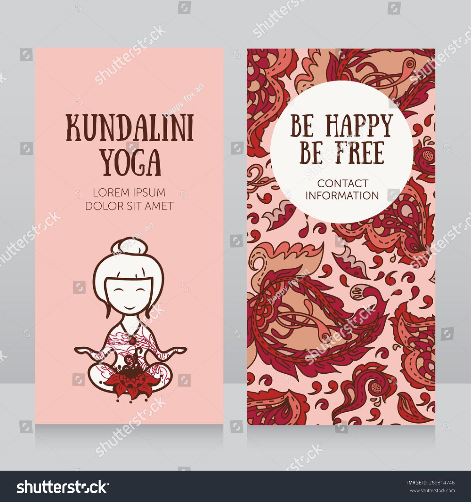 Template kundalini yoga studio business card stock vector template for kundalini yoga studio business card paisley design vector illustration magicingreecefo Images