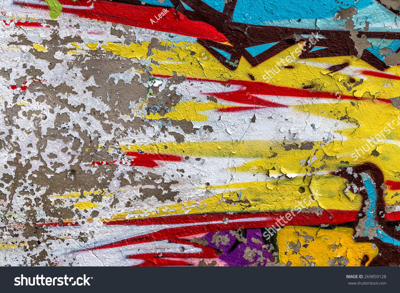 Beautiful street art graffiti. Abstract creative drawing fashion ...