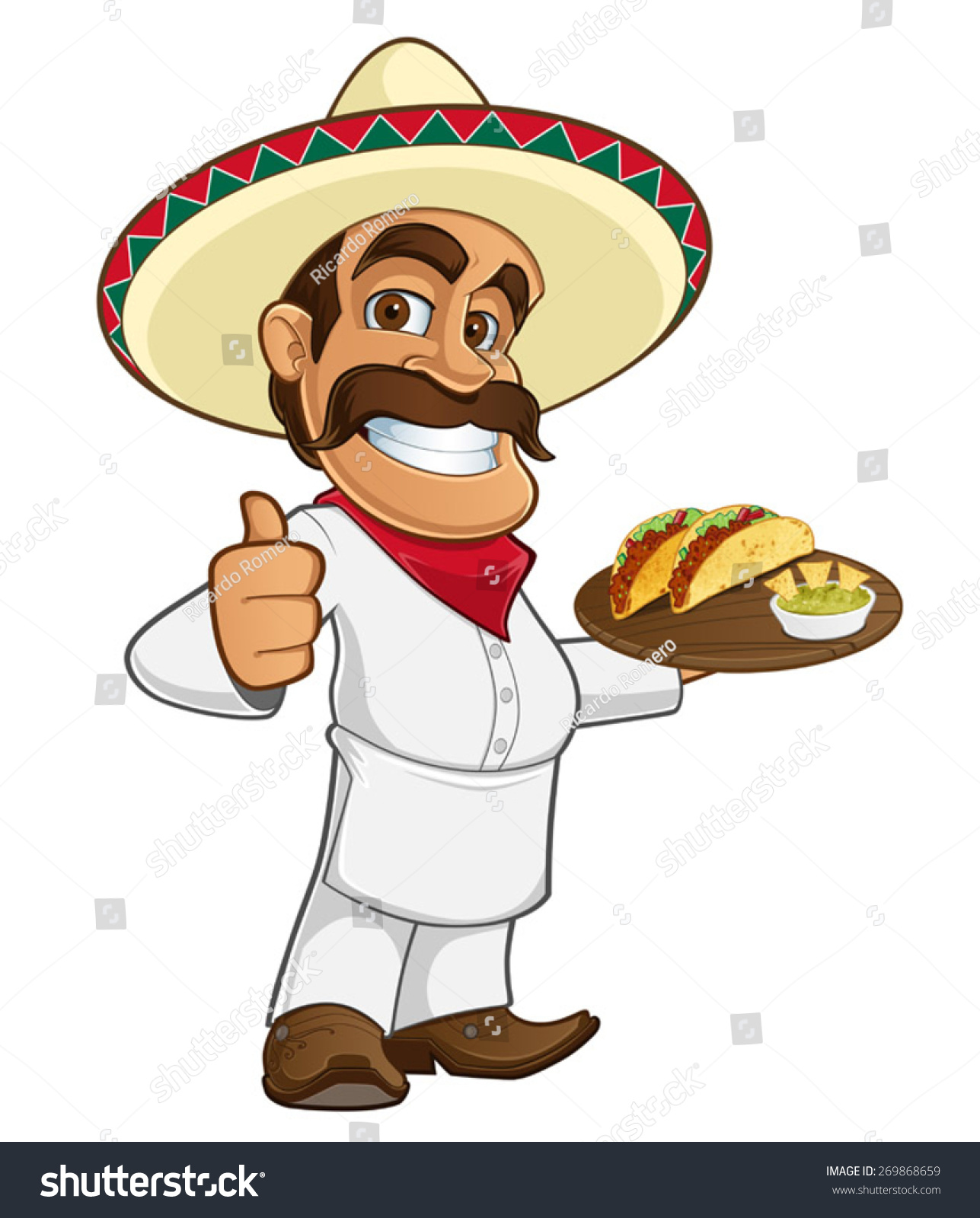 Mexican Cook Stock Vector 269868659 Shutterstock