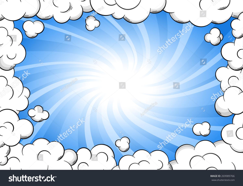 Illustration Cloud Frame Sky Background Stock Illustration 269989766 ...