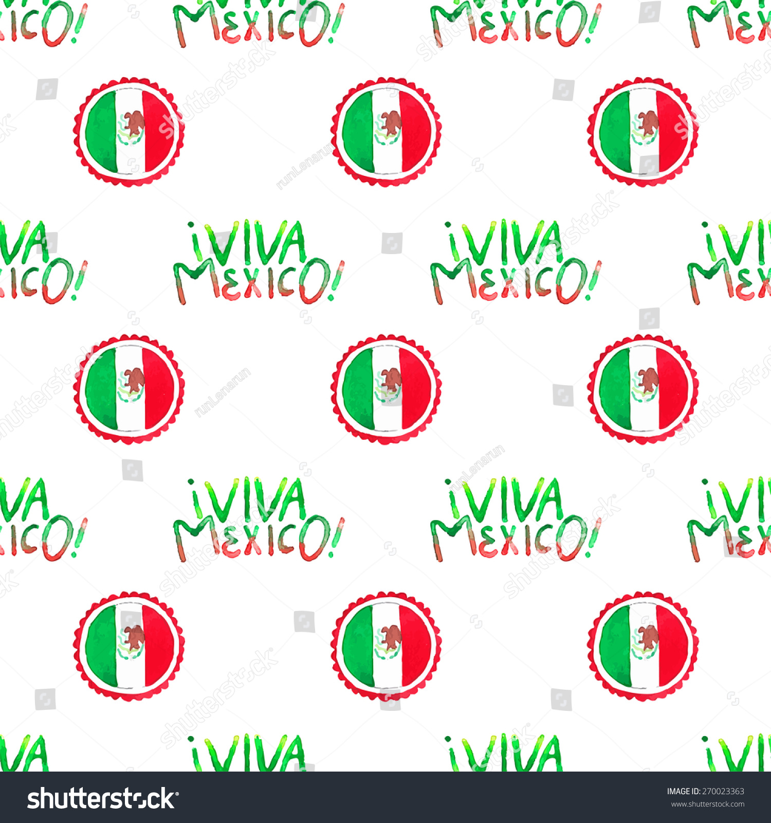 seamless pattern viva mexico sign mexican stock vector 270023363