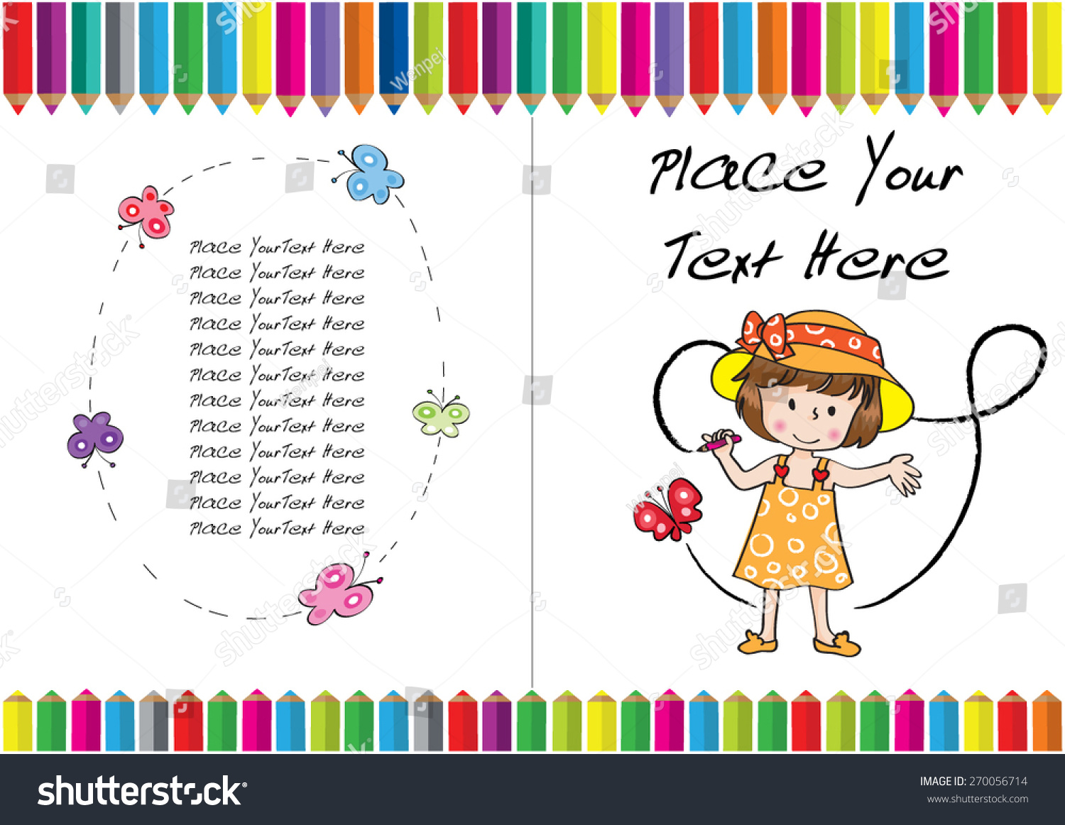 Kids Coloring Book Cover ~ Kids coloring book cover design stock vector
