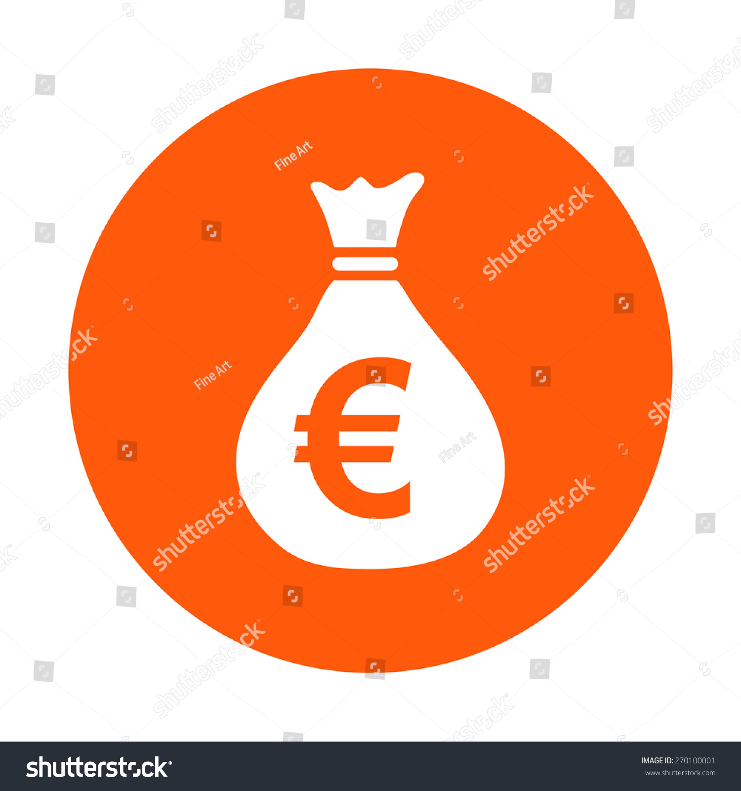 Money bag icon euro eur currency stock vector 270100001 shutterstock euro eur currency symbol flat design style eps 10 biocorpaavc