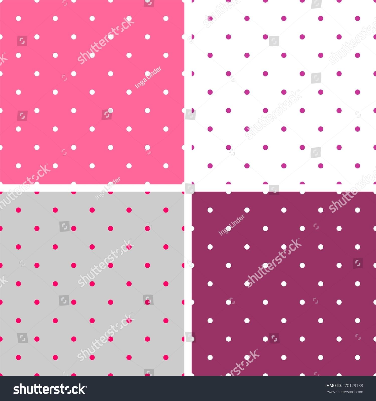 Royalty Free Stock Illustration of Tile Pattern Set Polka Dots Od