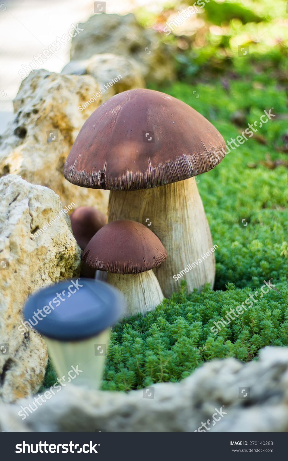 Ceramic Mushrooms Garden Decoration Stock Photo 270140288 - Shutterstock