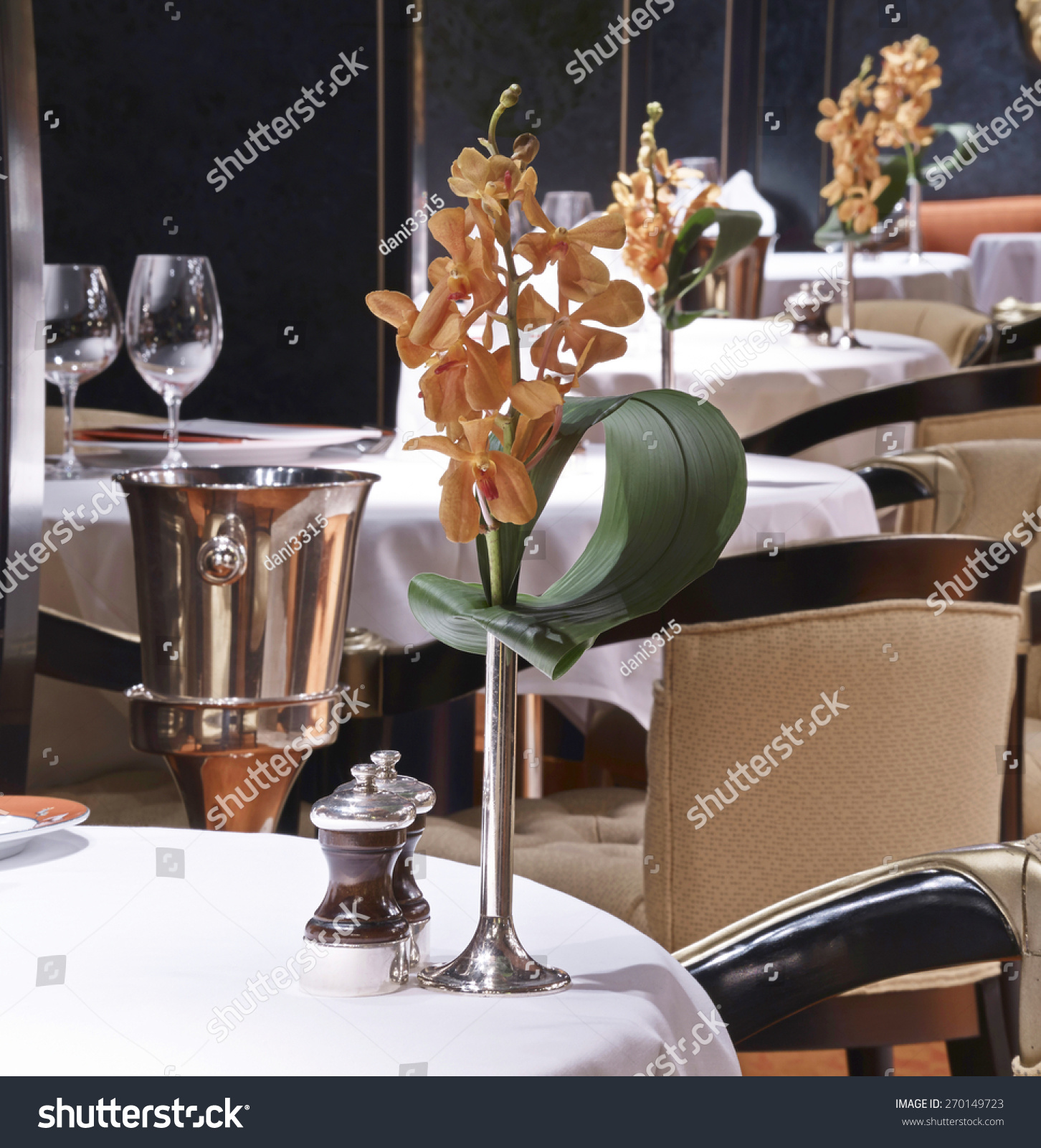 Formal Dining Table Set Up In Luxury Restaurant Stock Photo 270149723 Shutt