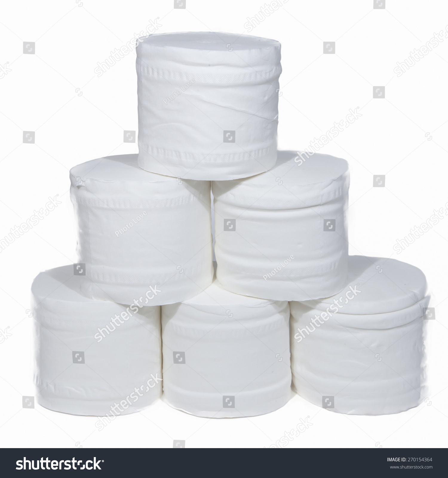 Rolls toilet paper isolated on white stock photo 270154364 shutterstock - Lavish white and grey kitchen for hygienic and bright view ...