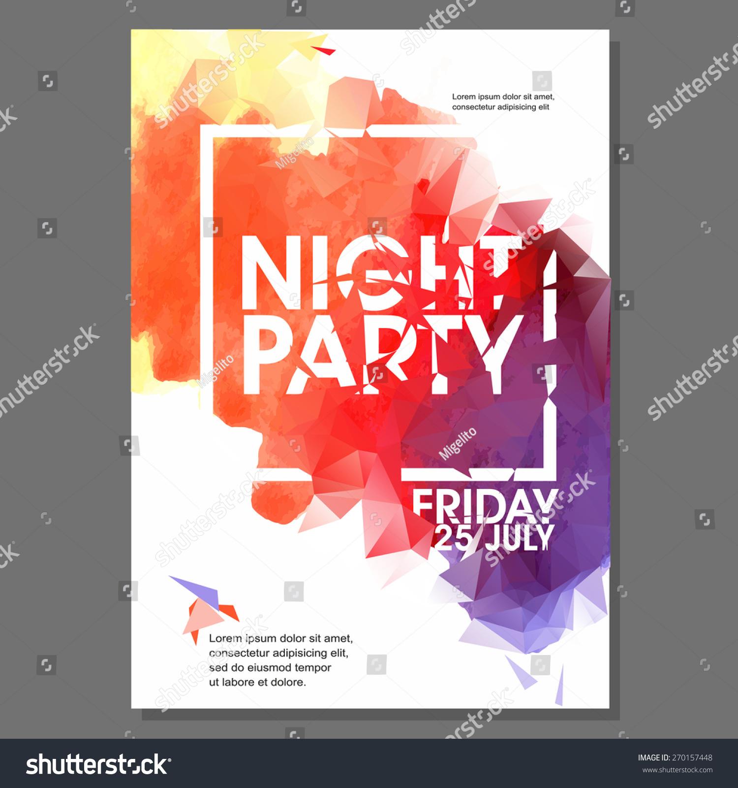 summer night beach party vector flyer のベクター画像素材