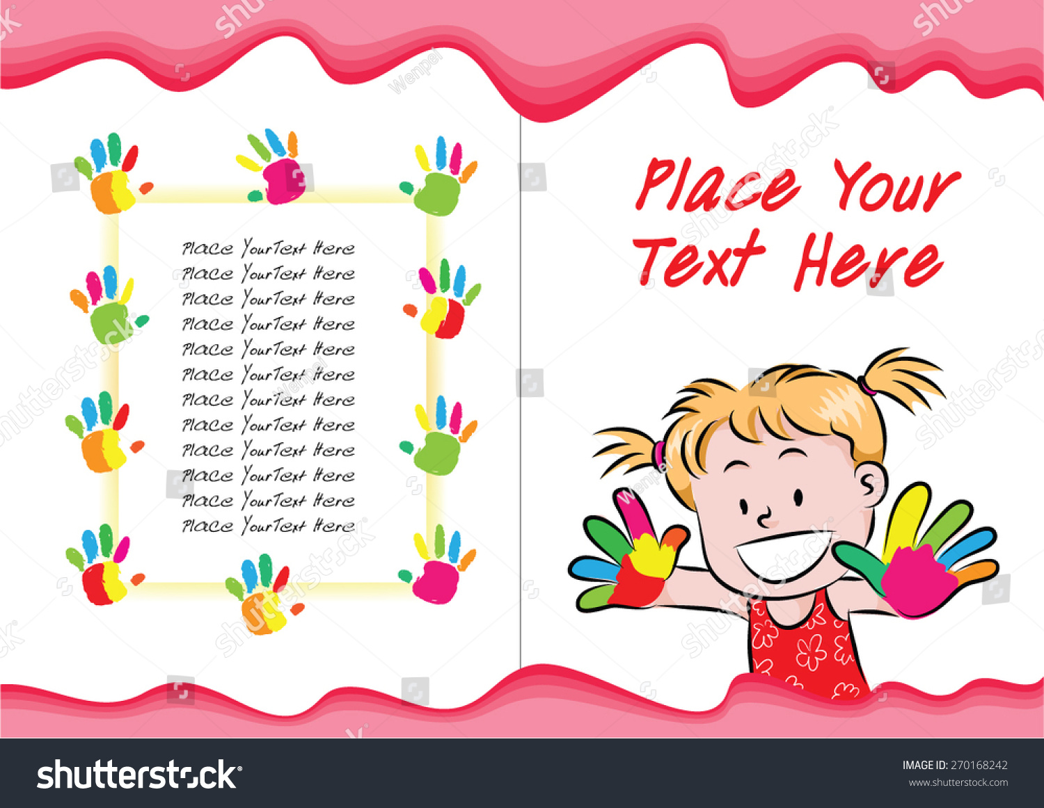 Kids Cookbook Cover Design : Kids book cover design stock vector shutterstock