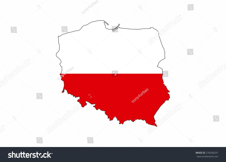 Poland country flag map shape national stock illustration poland country flag map shape national symbol biocorpaavc