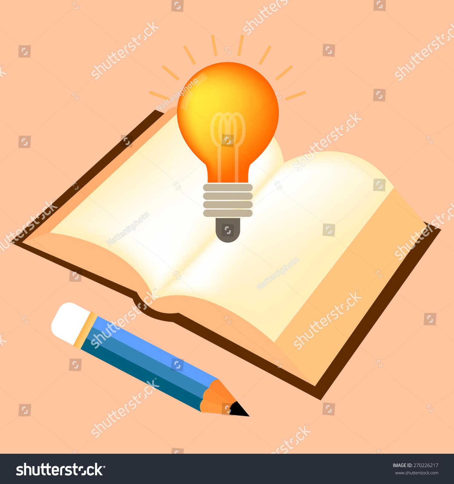 Vector Symbols Reflect Creativity Including Bulb Stock Vector