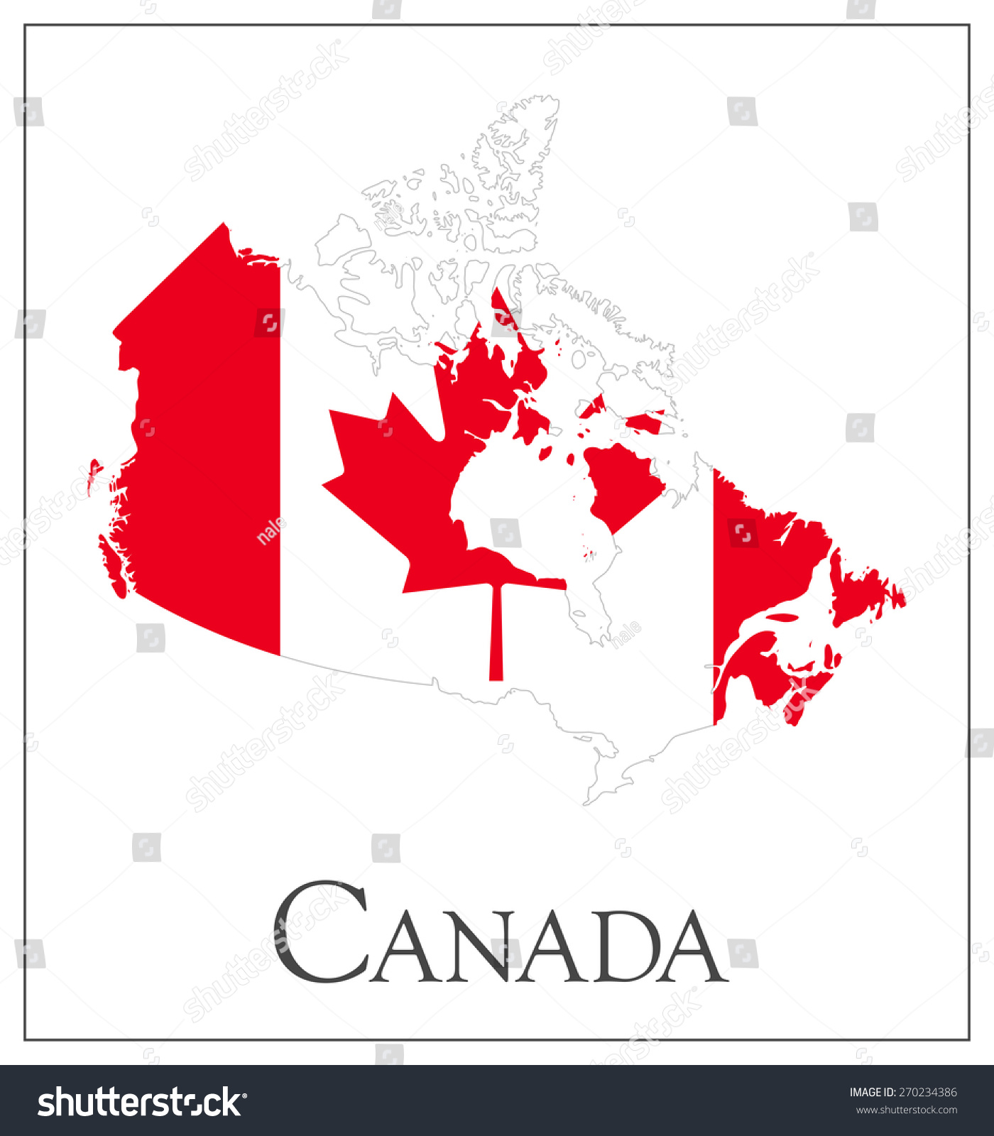 vector illustration canada flag map used stock vector 270234386