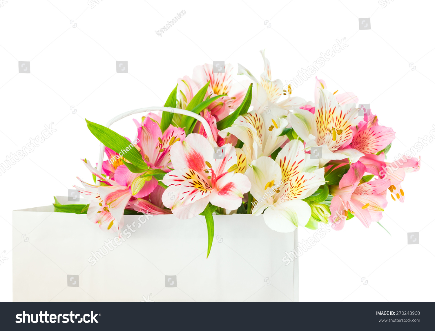 Beautiful bouquet of flowers alstroemeria on a white background ez beautiful bouquet of flowers alstroemeria on a white background ez canvas izmirmasajfo
