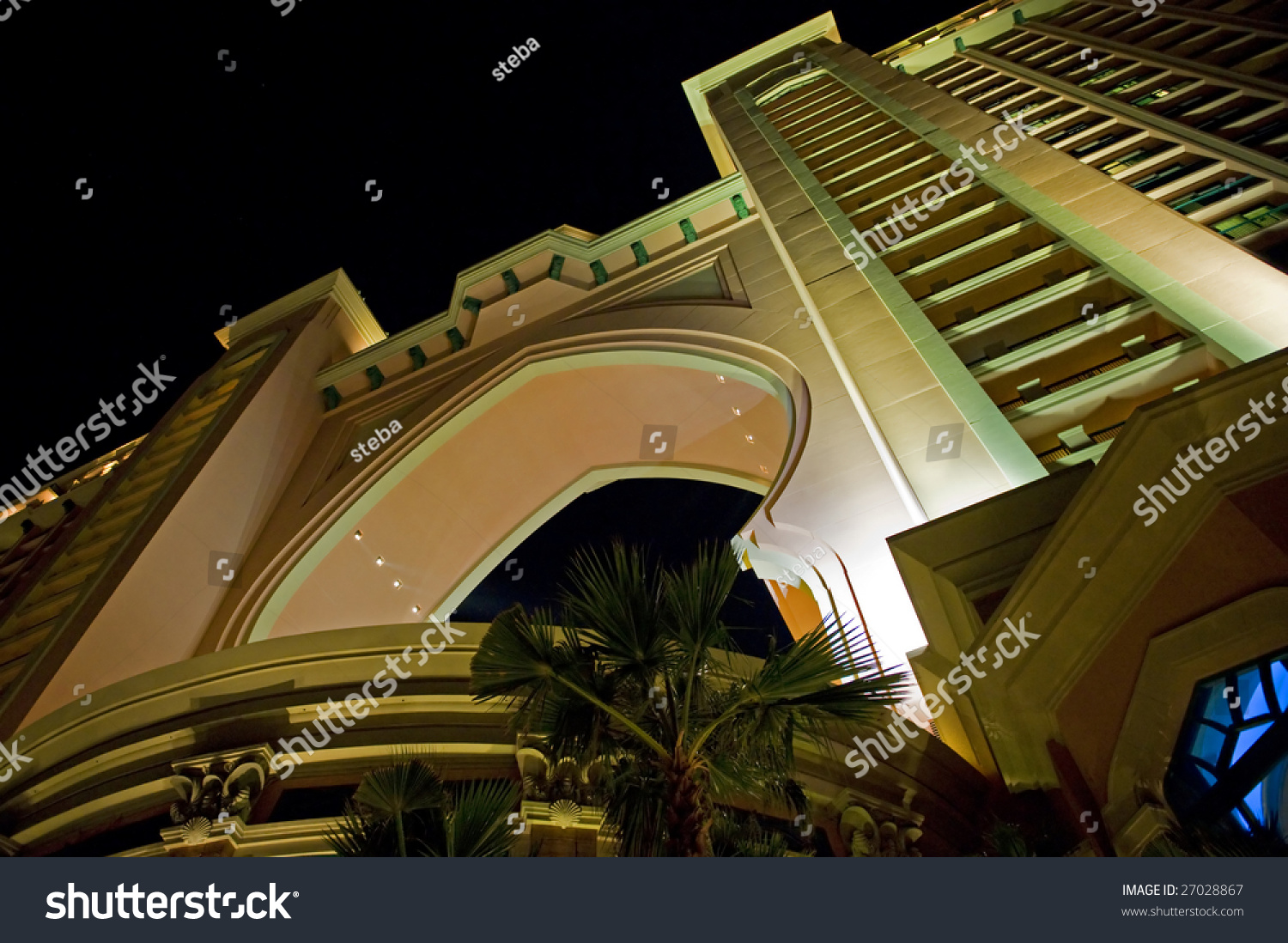 New super hotel on palm island stock photo 27028867 for Super luxury hotels in dubai