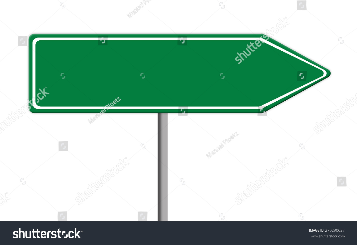 Blank Green Traffic Sign Template On Stock Illustration 270290627 ...