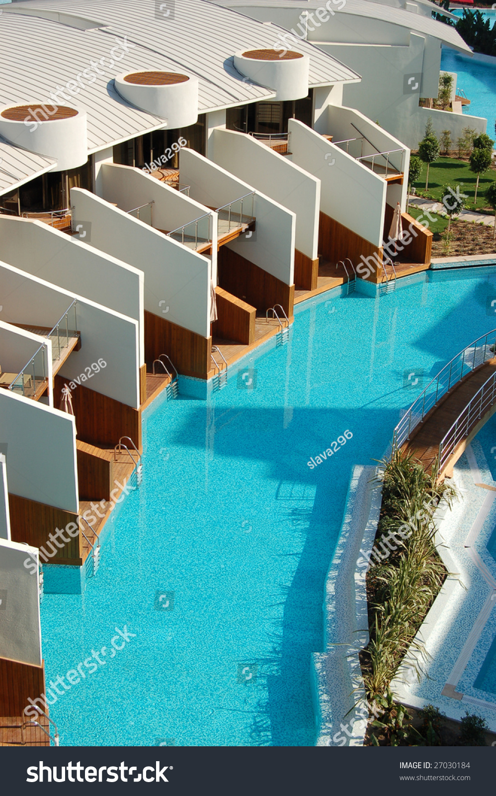 Swimming Pool Near Vip Villas In A Modern Turkish Hotel Antalya Turkey Stock Photo 27030184