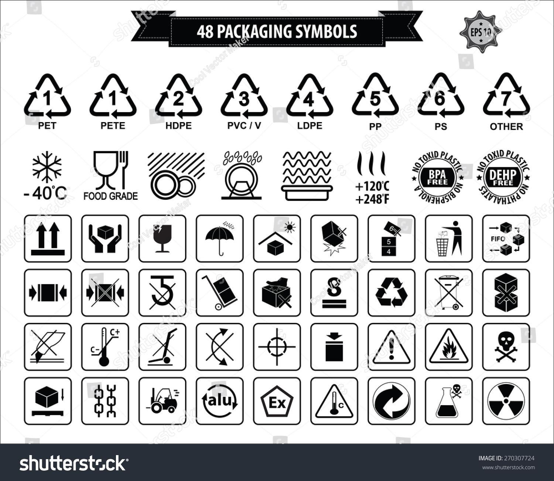 Set packaging symbols this side up stock vector 270307724 set of packaging symbols this side up handle with care fragile keep buycottarizona