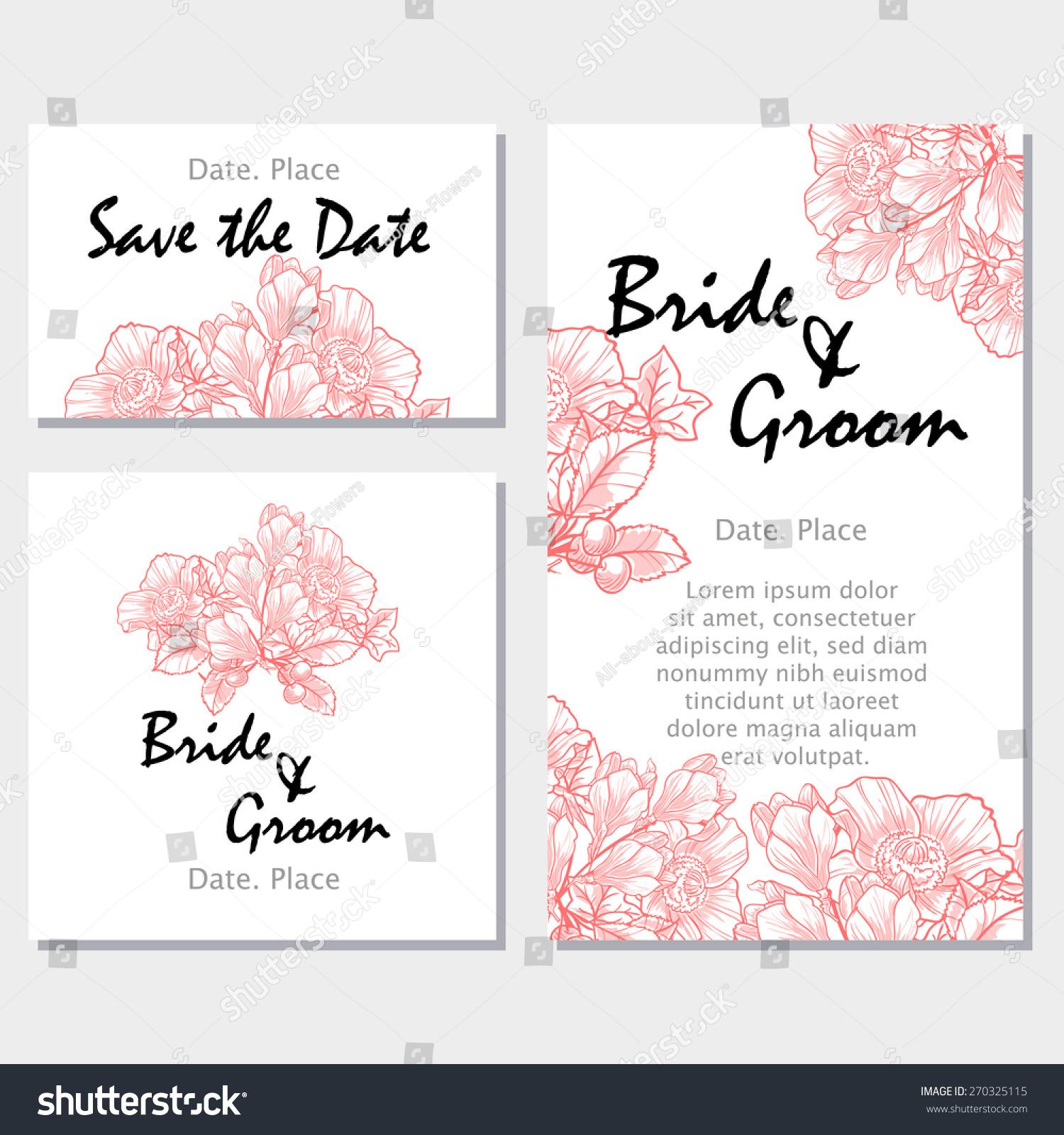 Royalty-free Vintage flowers. Wedding invitation… #270325115 Stock ...