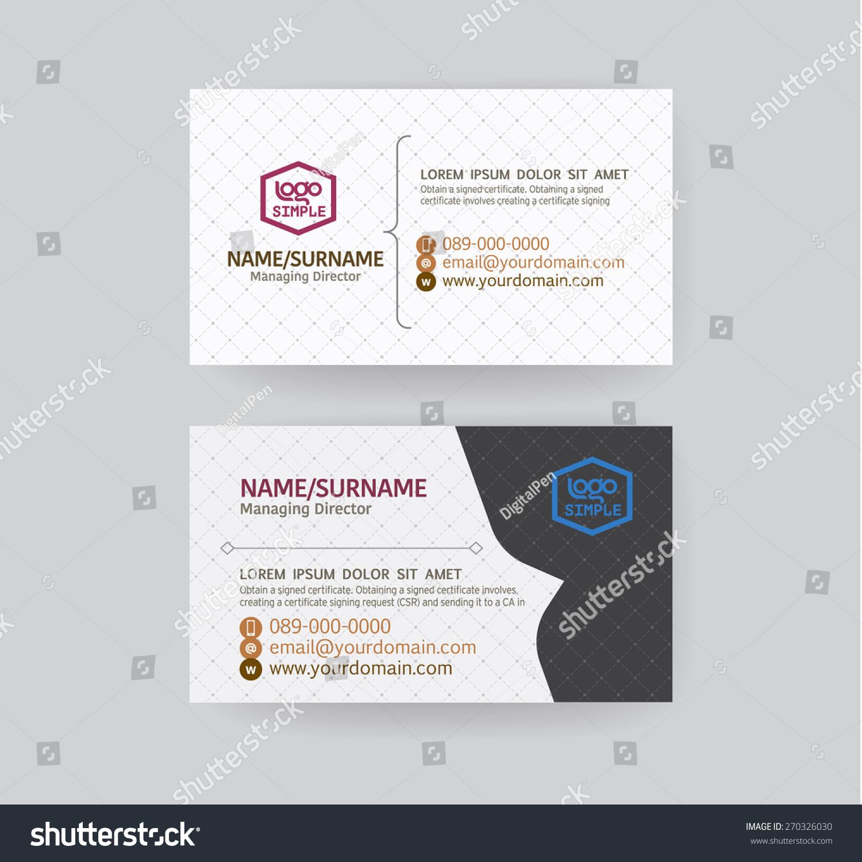 Modern Business Card Template Stock Vector 270326030 - Shutterstock