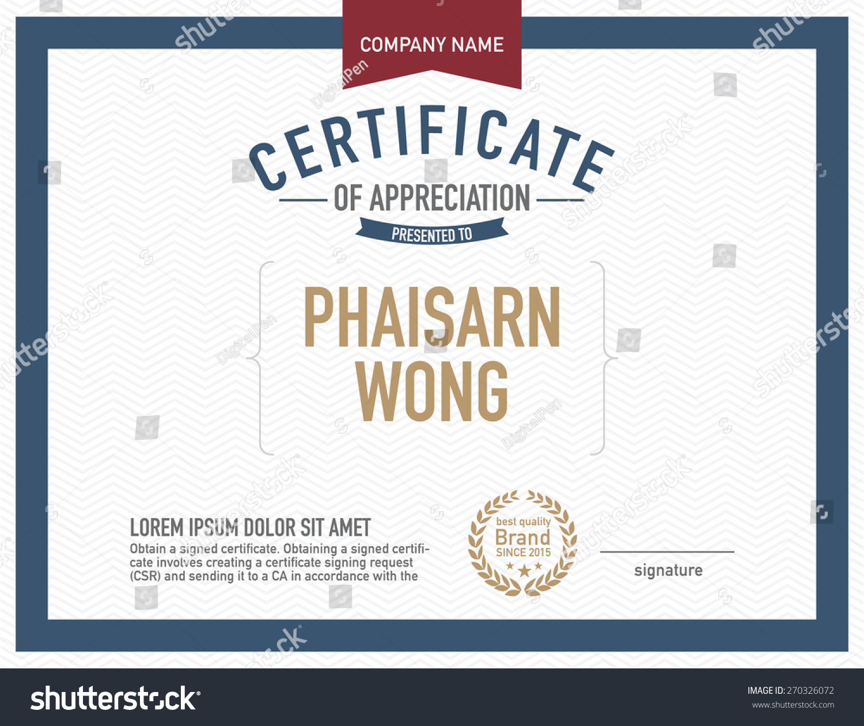 modern certificate template stock vector 270326072 shutterstock modern certificate template