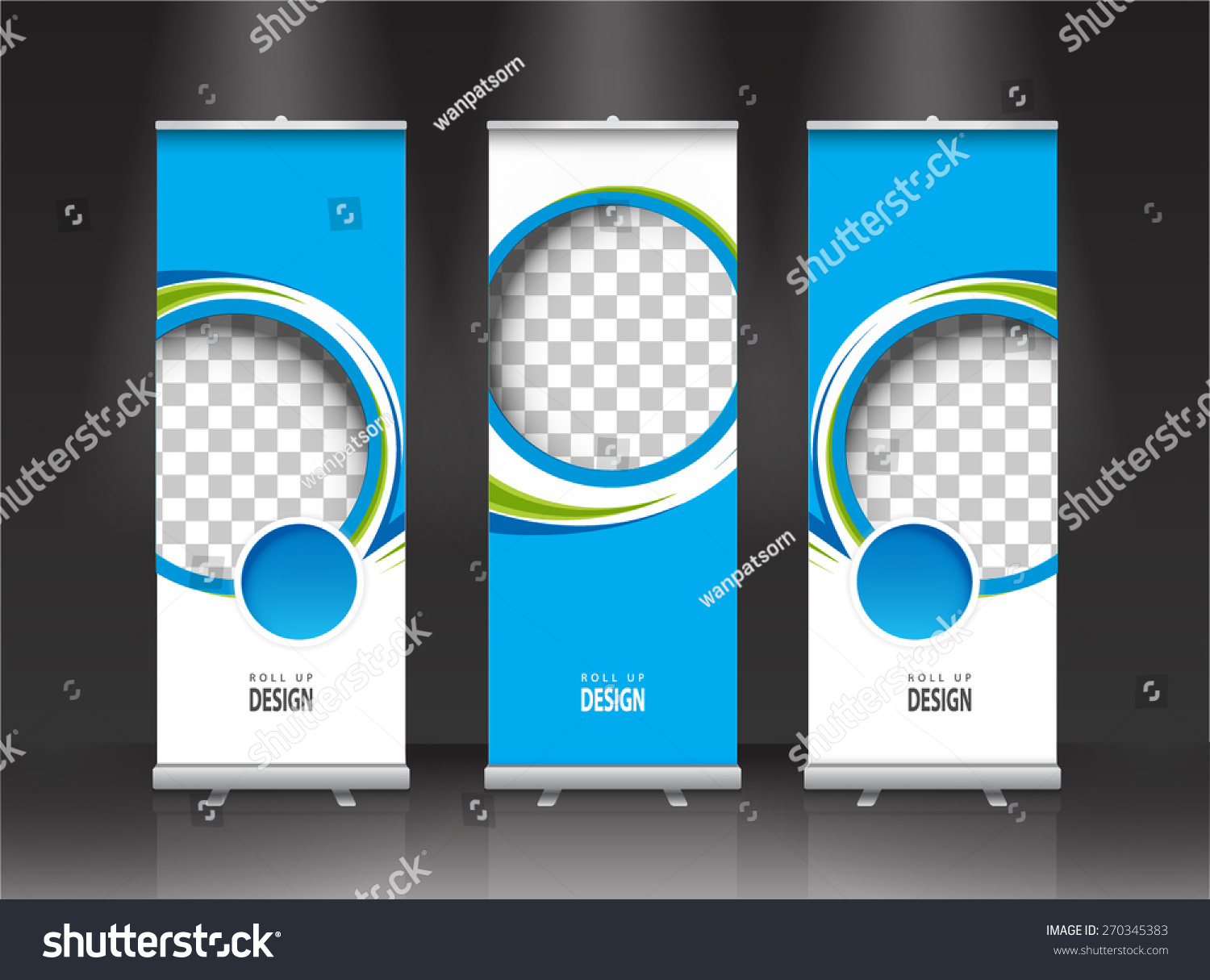 Modern Exhibition Stand By Me : Roll banner stand design vector stock
