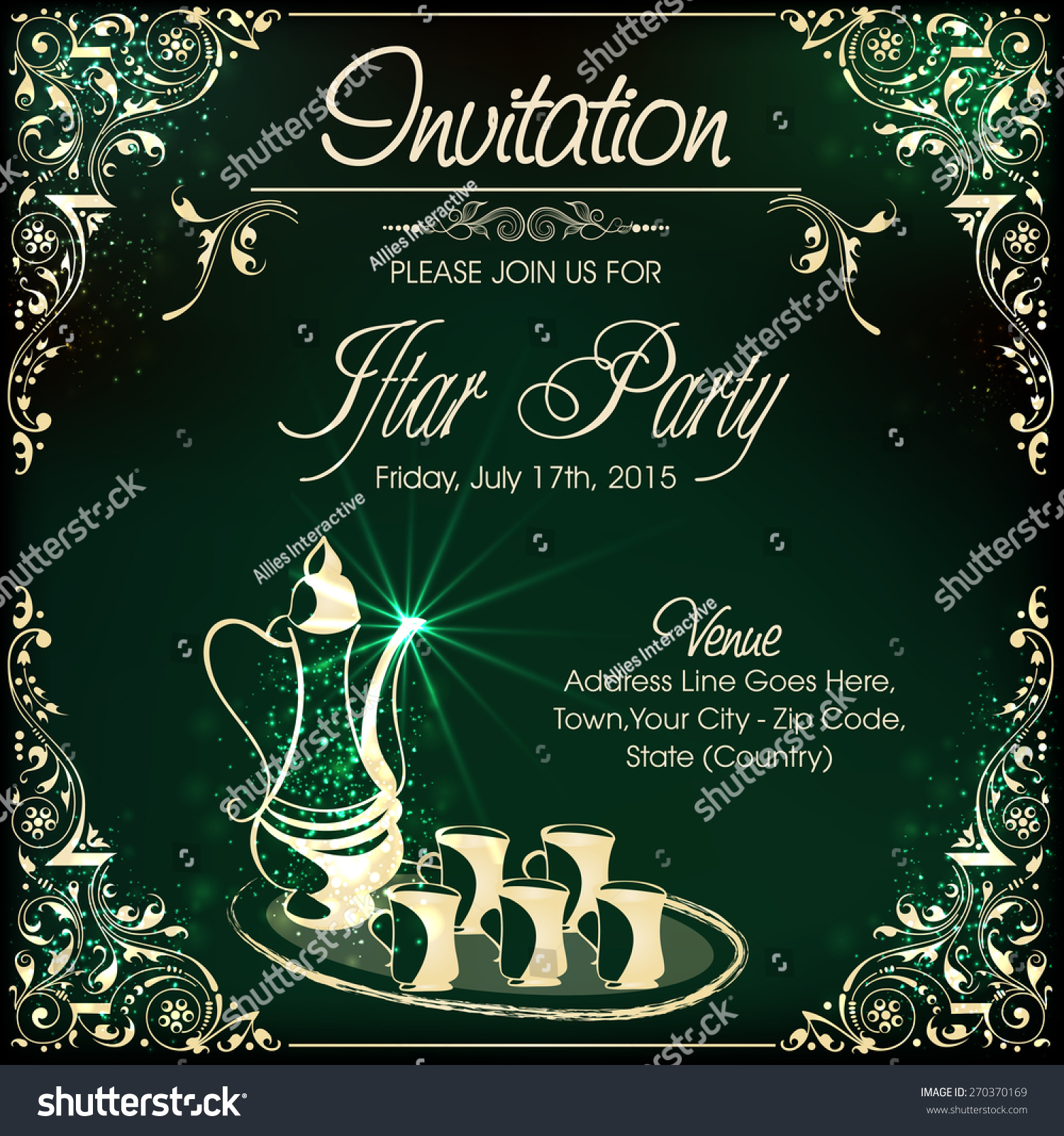 Invitation Card Design Iftar Party Celebrations Vector – Party Invitation Card Design