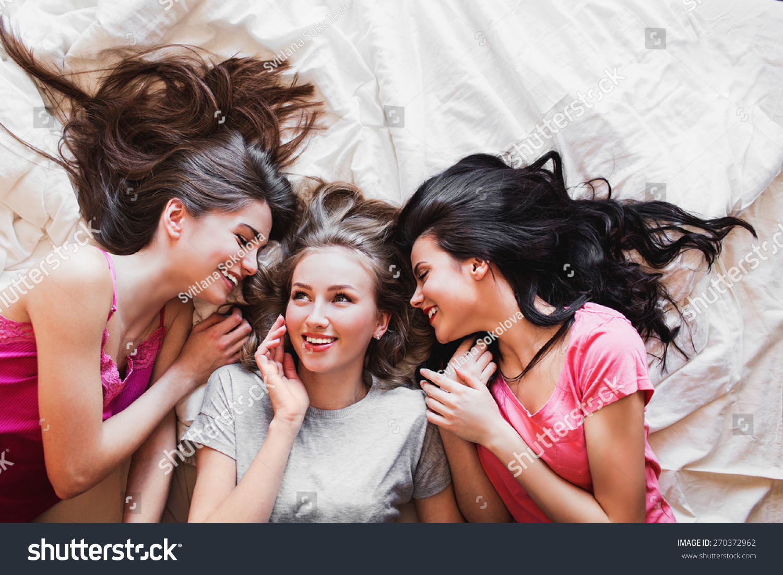 Top View Three Best Friends Tell Stockfoto Nu Bewerken 270372962