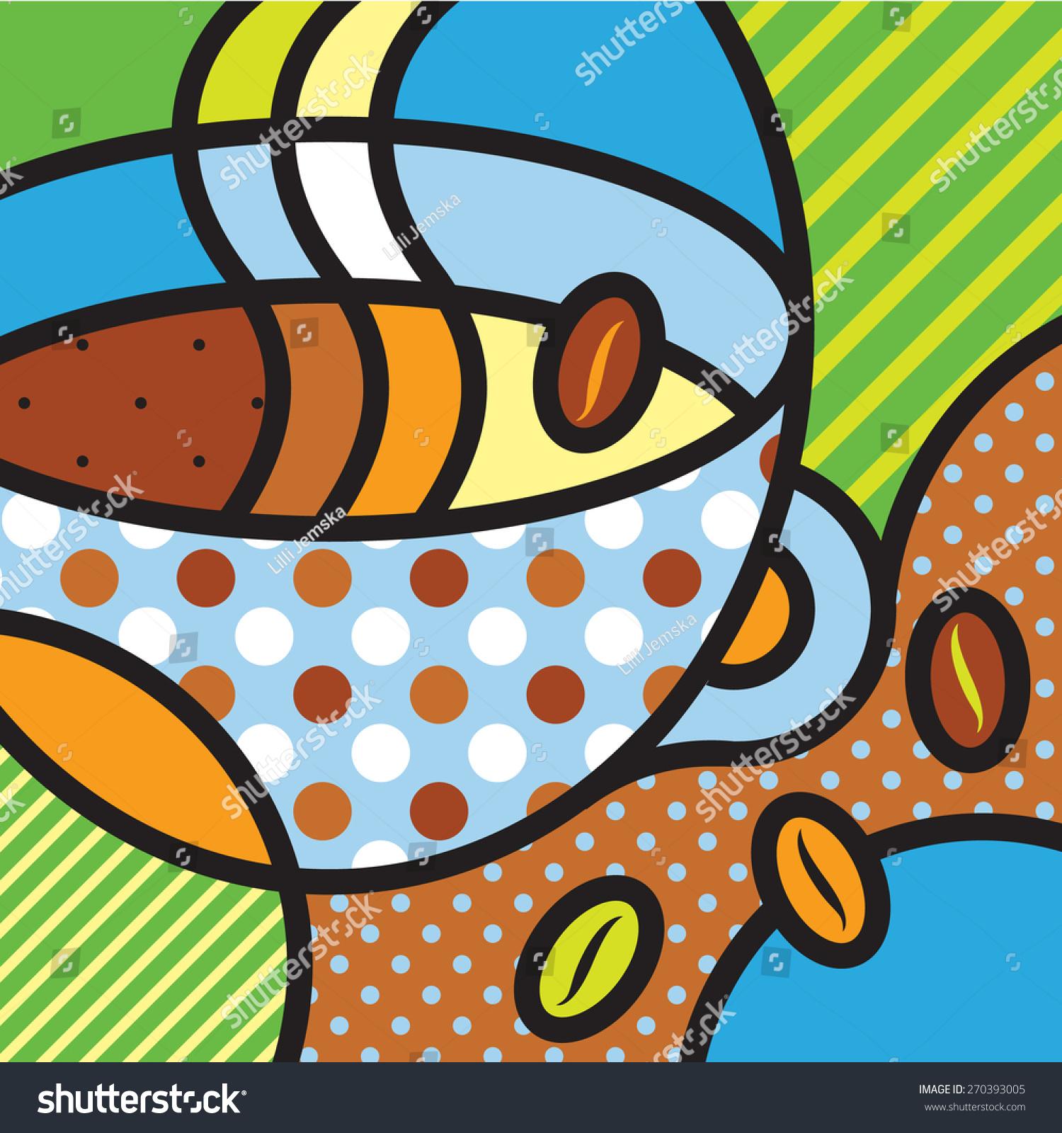 Coffee Hot Drinks Breakfast Italian Modern Stock Vector 270393005 Shutterstock