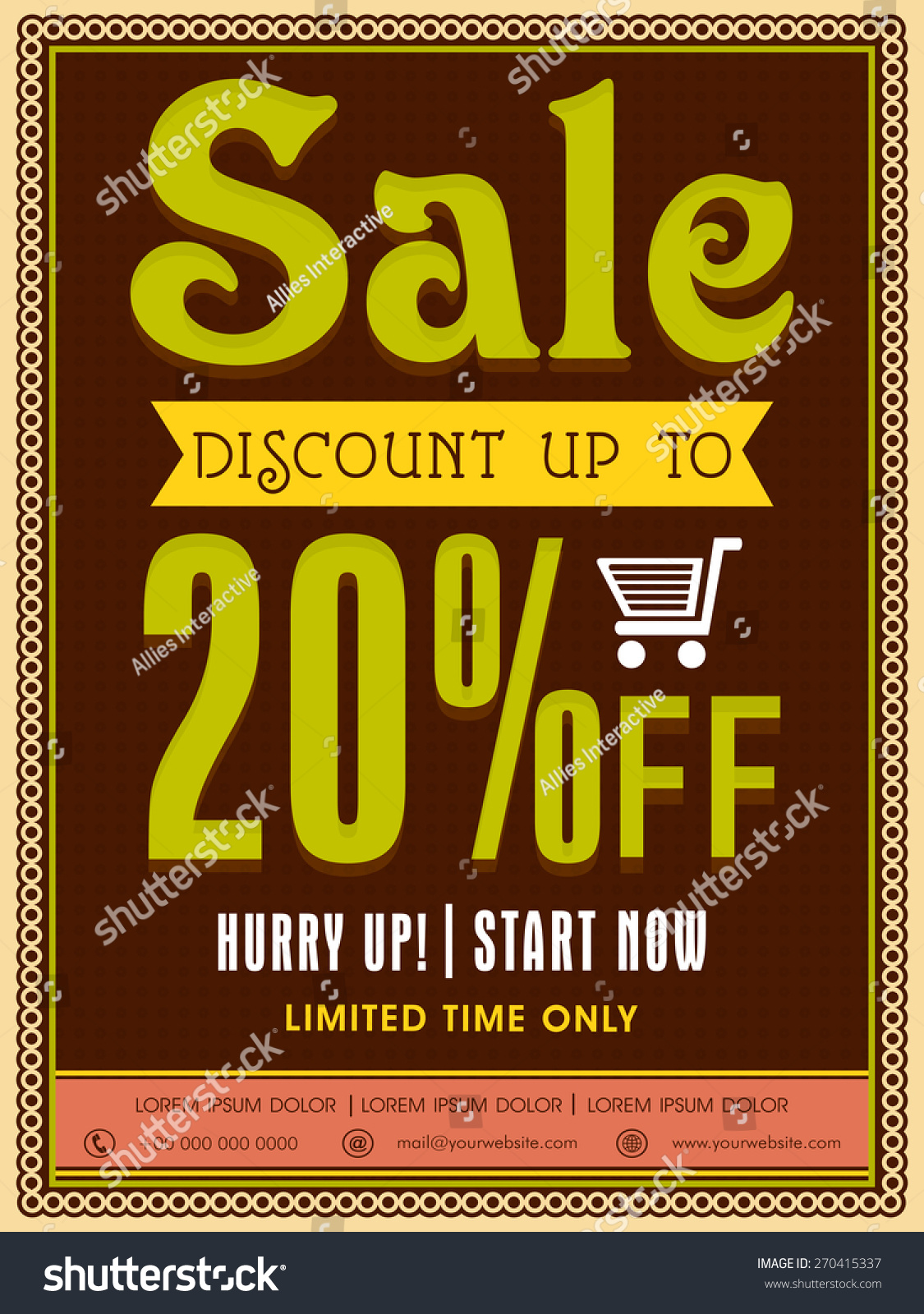limited time poster banner flyer stock vector  limited time poster banner or flyer design discount offer