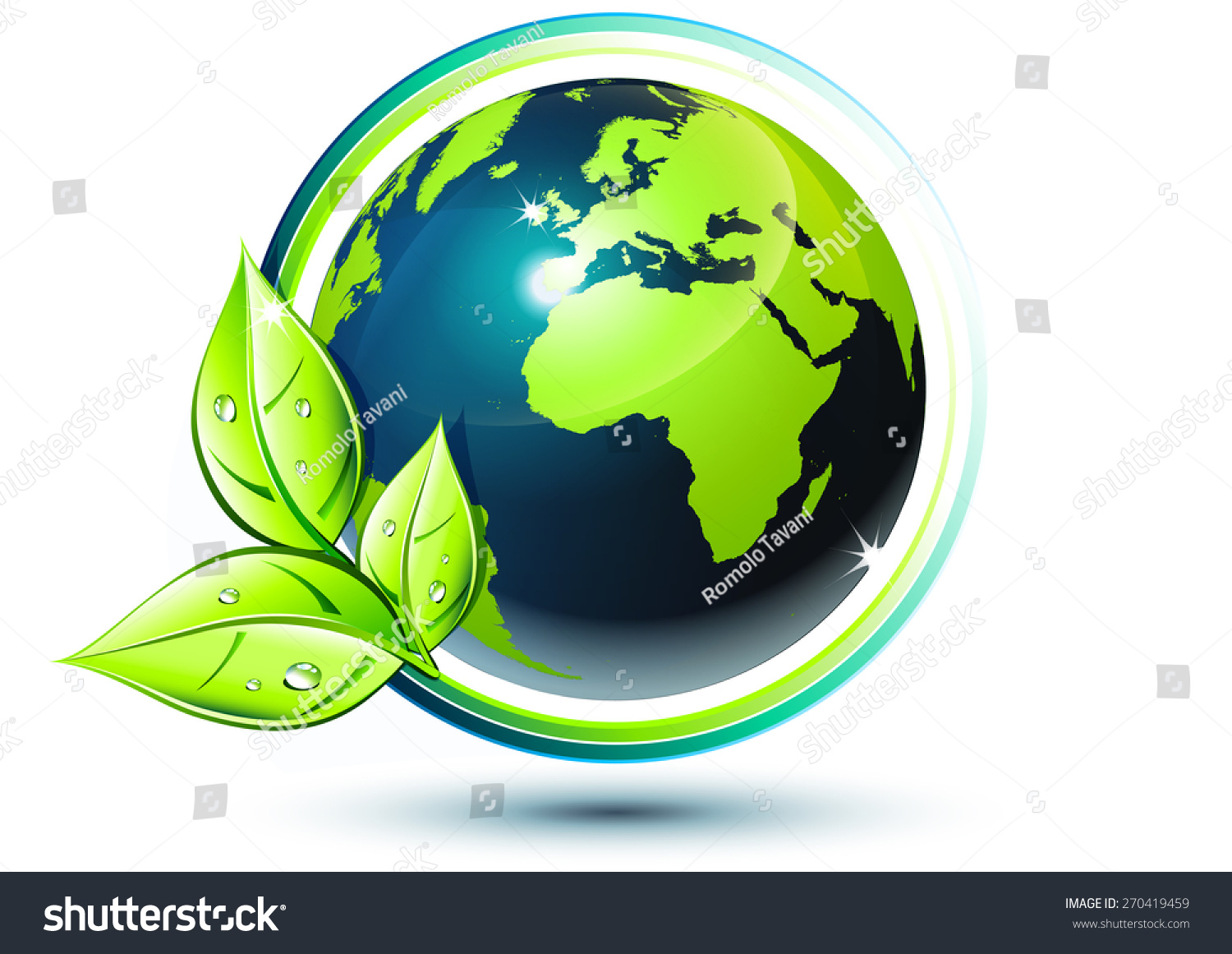 green earth ecofriendly concept stock vector 270419459 shutterstock. Black Bedroom Furniture Sets. Home Design Ideas