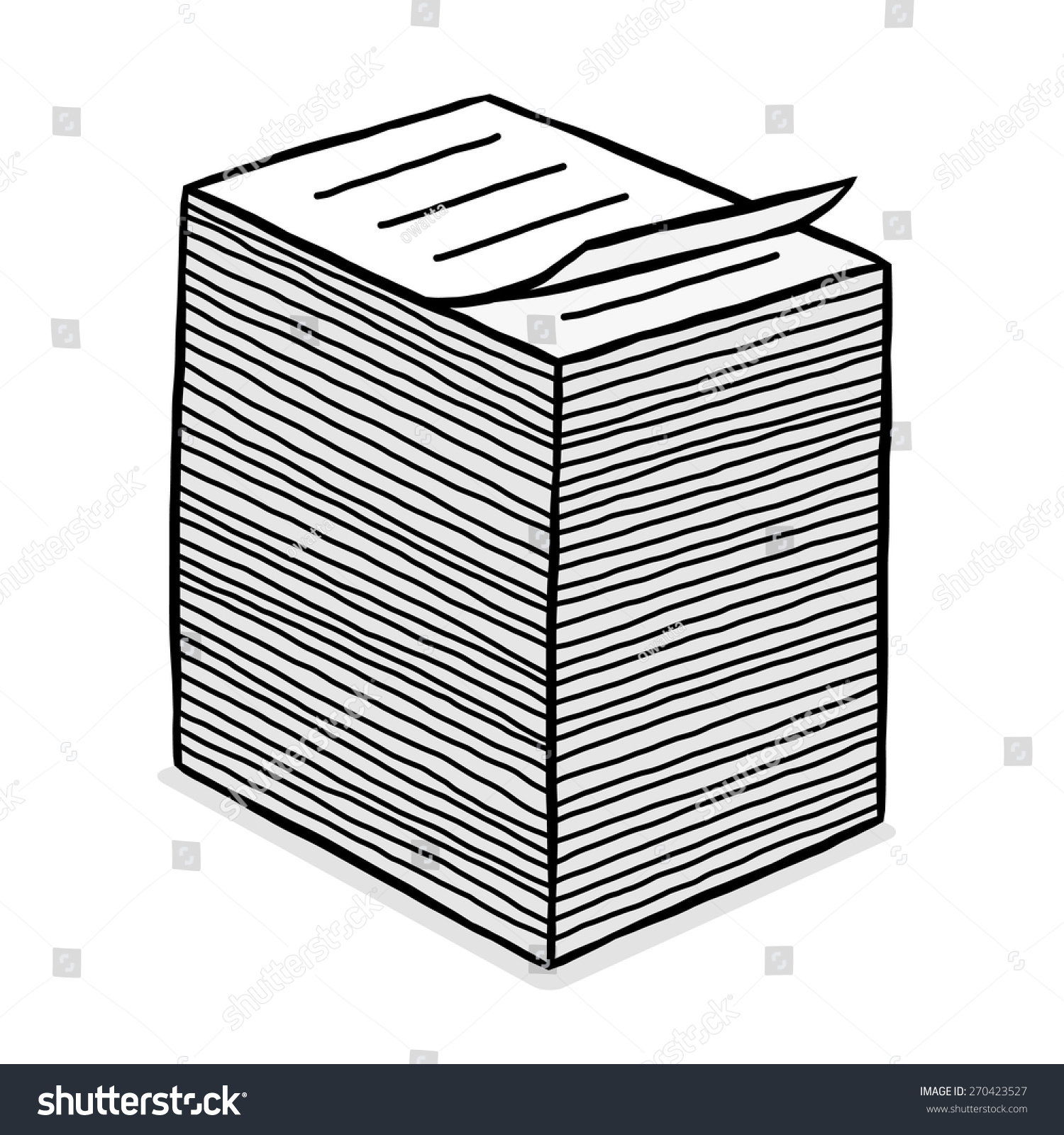 paper stack clipart - photo #6