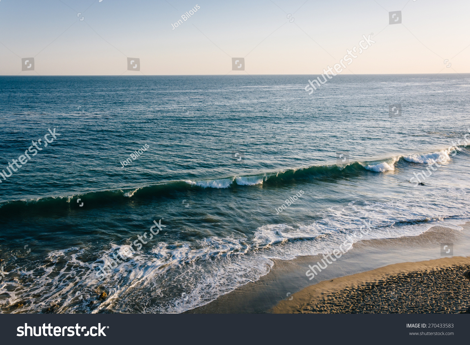View Waves Pacific Ocean El Matador Stock Photo 270433583 ... Pacific Ocean Waves