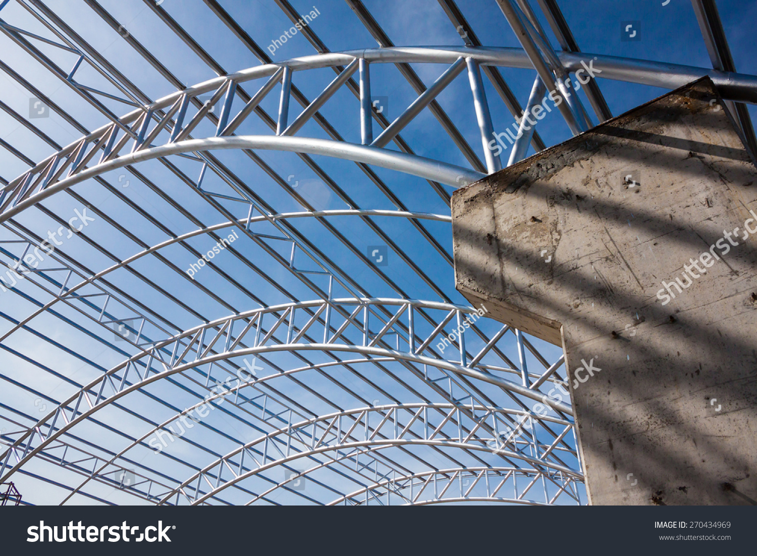 Steel Pipe Truss Metal Sheet Roofing Stock Photo (Edit Now ...