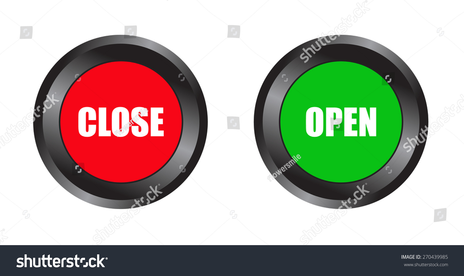 Open close button