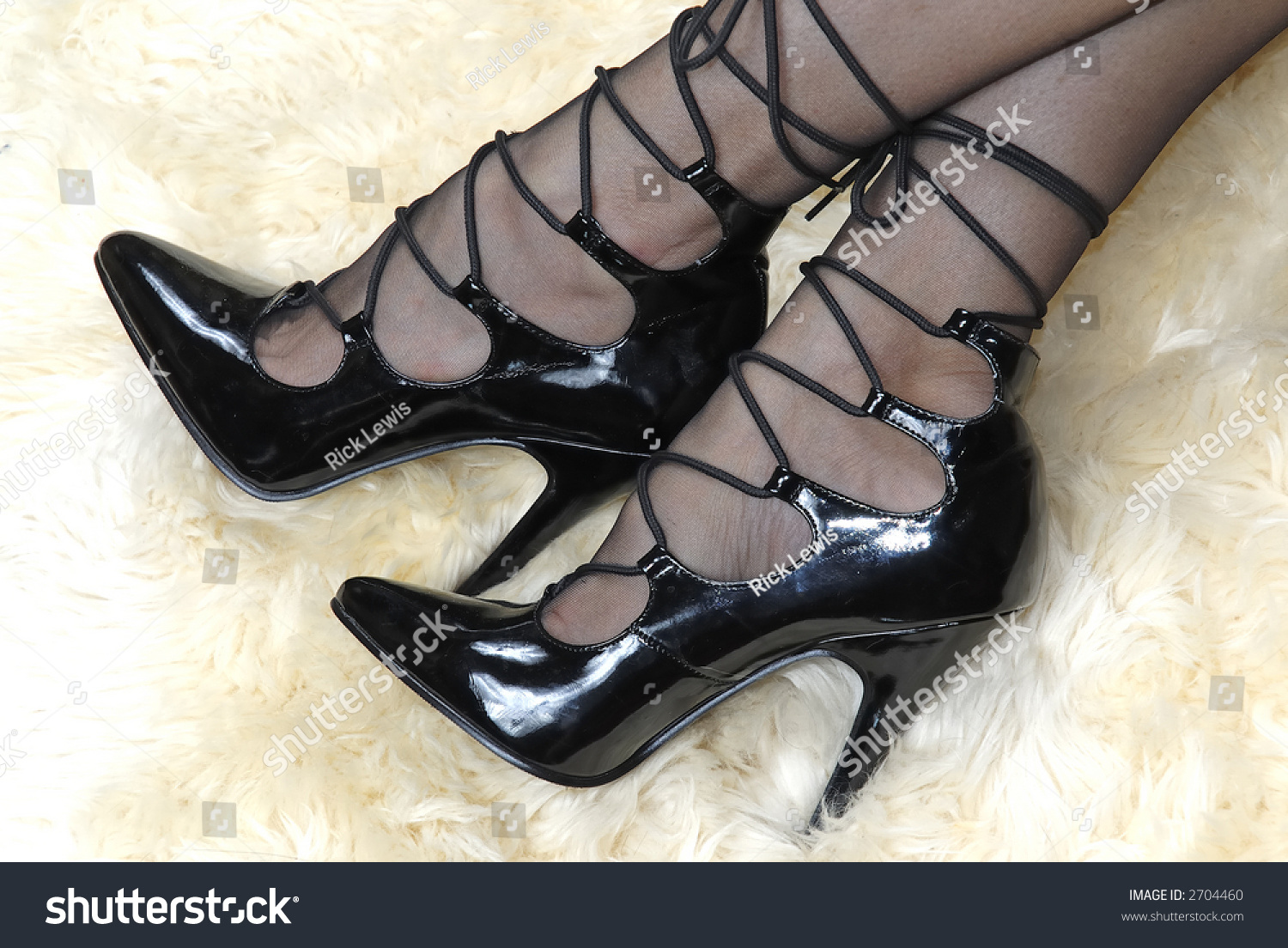 Share black high heels and stockings right! seems