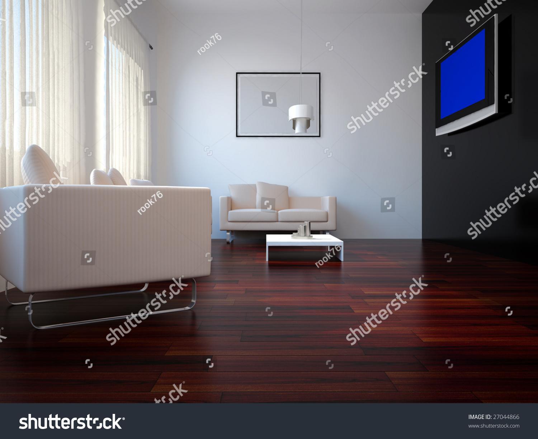 High resolution image interior 3d illustration modern for High resolution interior images