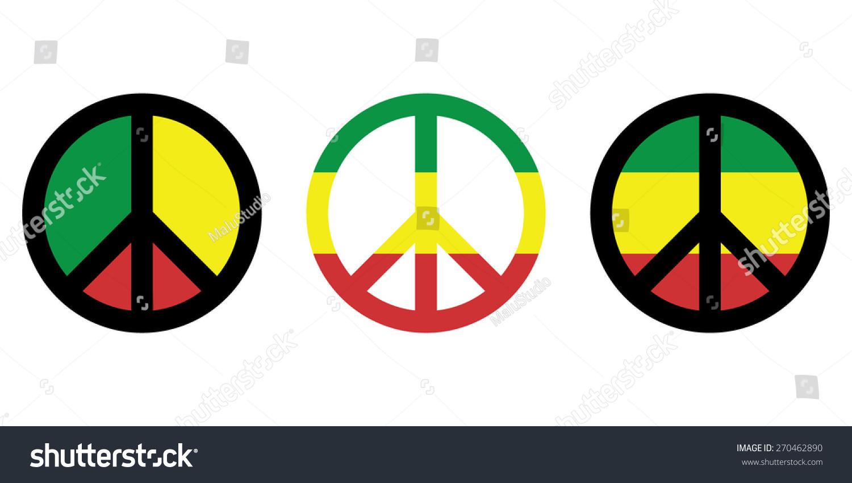 Rasta peace sign flag vector stock vector 270462890 shutterstock rasta peace sign flag vector biocorpaavc