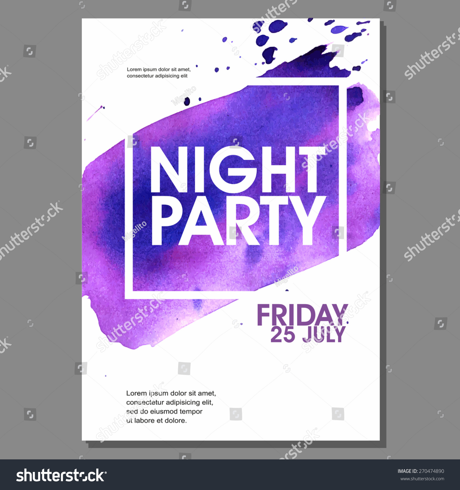 Night Party Vector Flyer Template