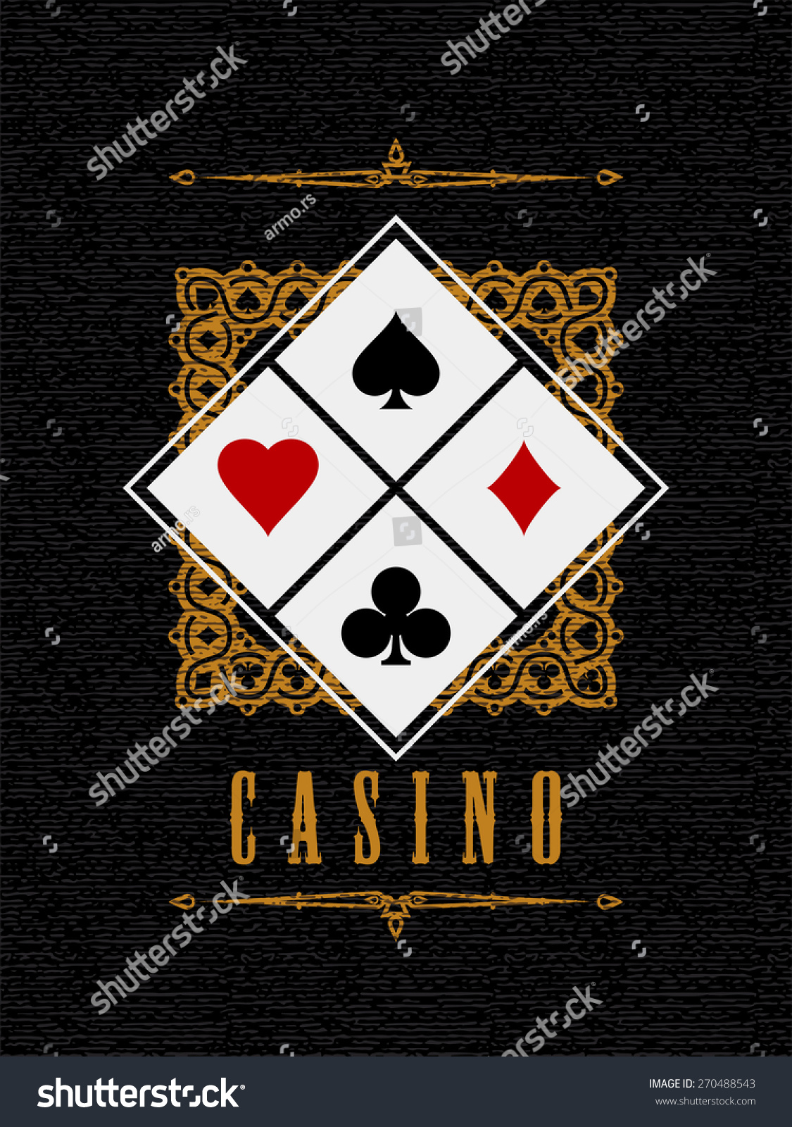 Casino Sign Card Suit Symbol On Stock Vector 270488543