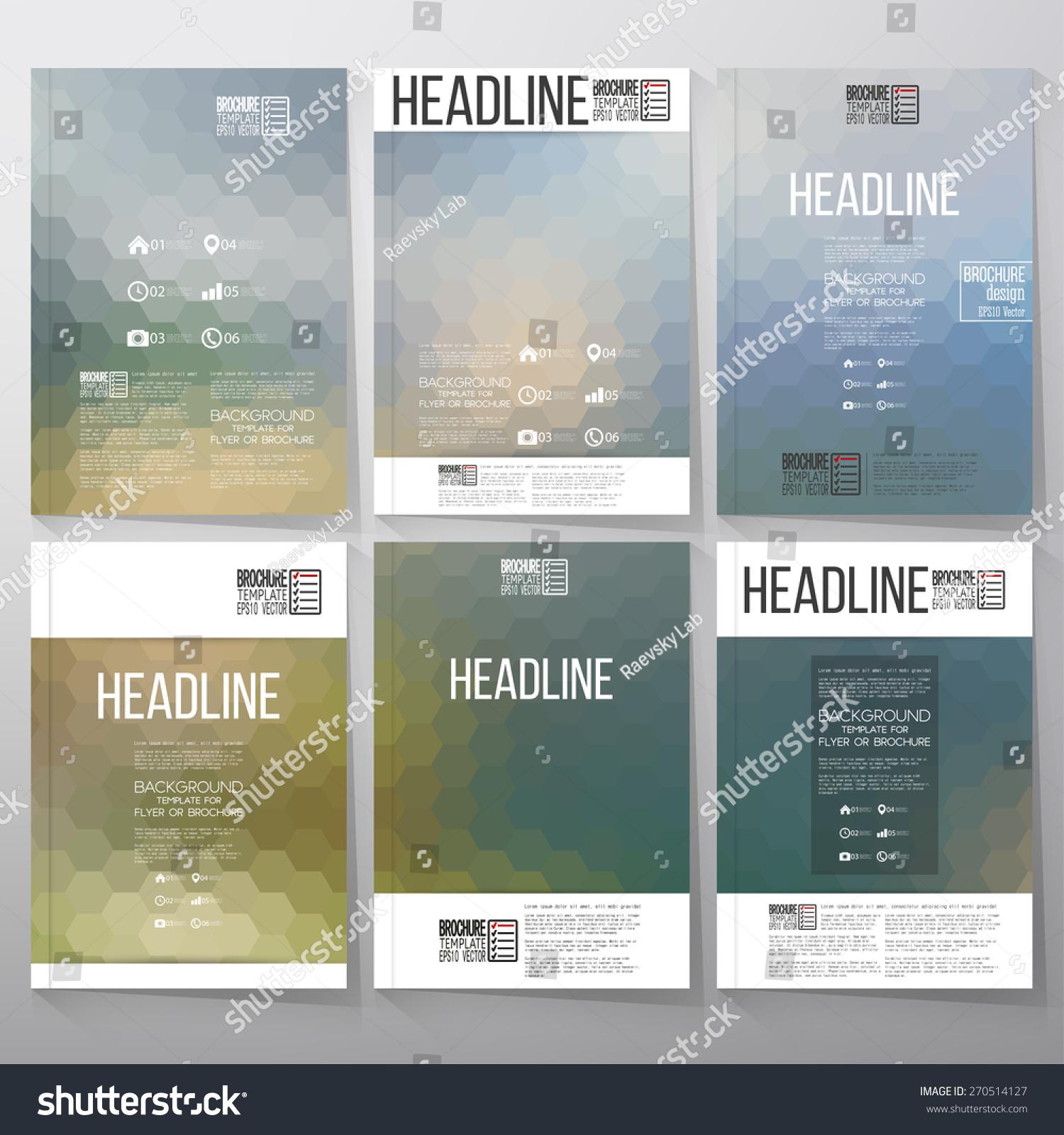 Abstract Blurred Hexagonal Backgrounds Brochure Flyer Vector de ...