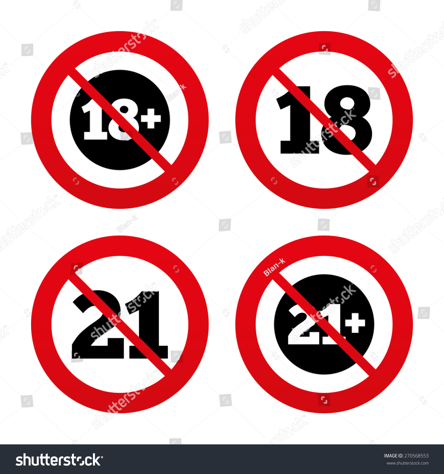 No Ban Stop Signs Adult Content Stock Vector Royalty Free