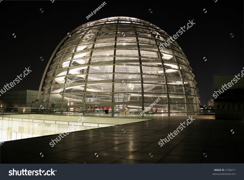 reichstag copula dome view night berlin stock photo 2706211 shutterstock. Black Bedroom Furniture Sets. Home Design Ideas