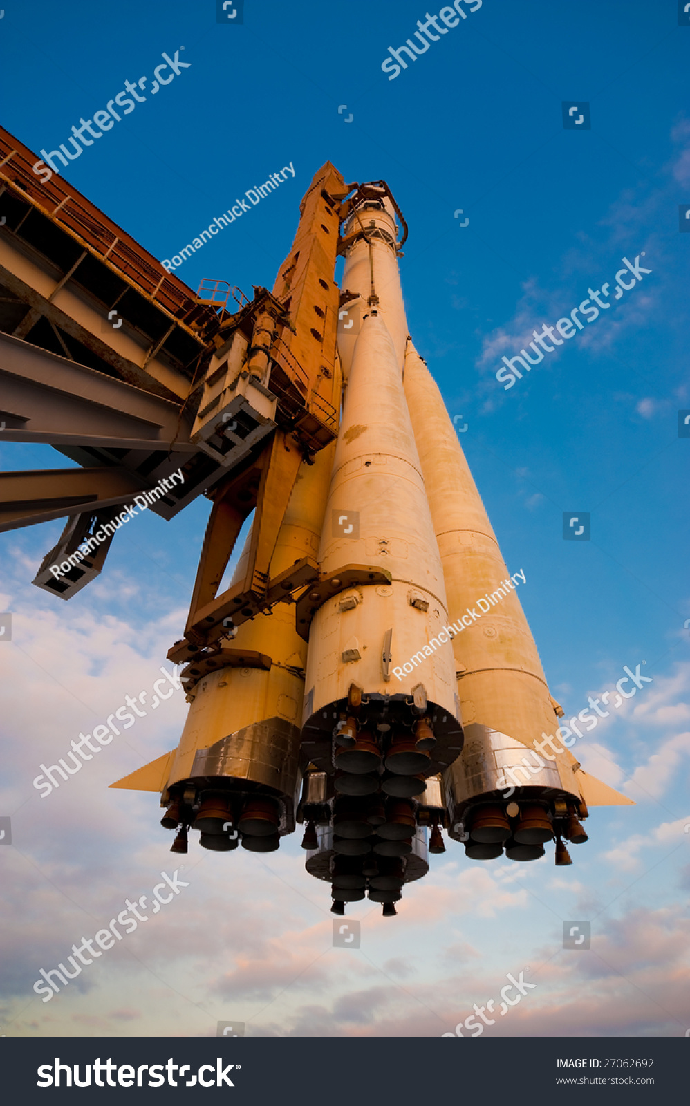 Russian Spaceship Vostok On Launchpad Stock Photo (Edit Now