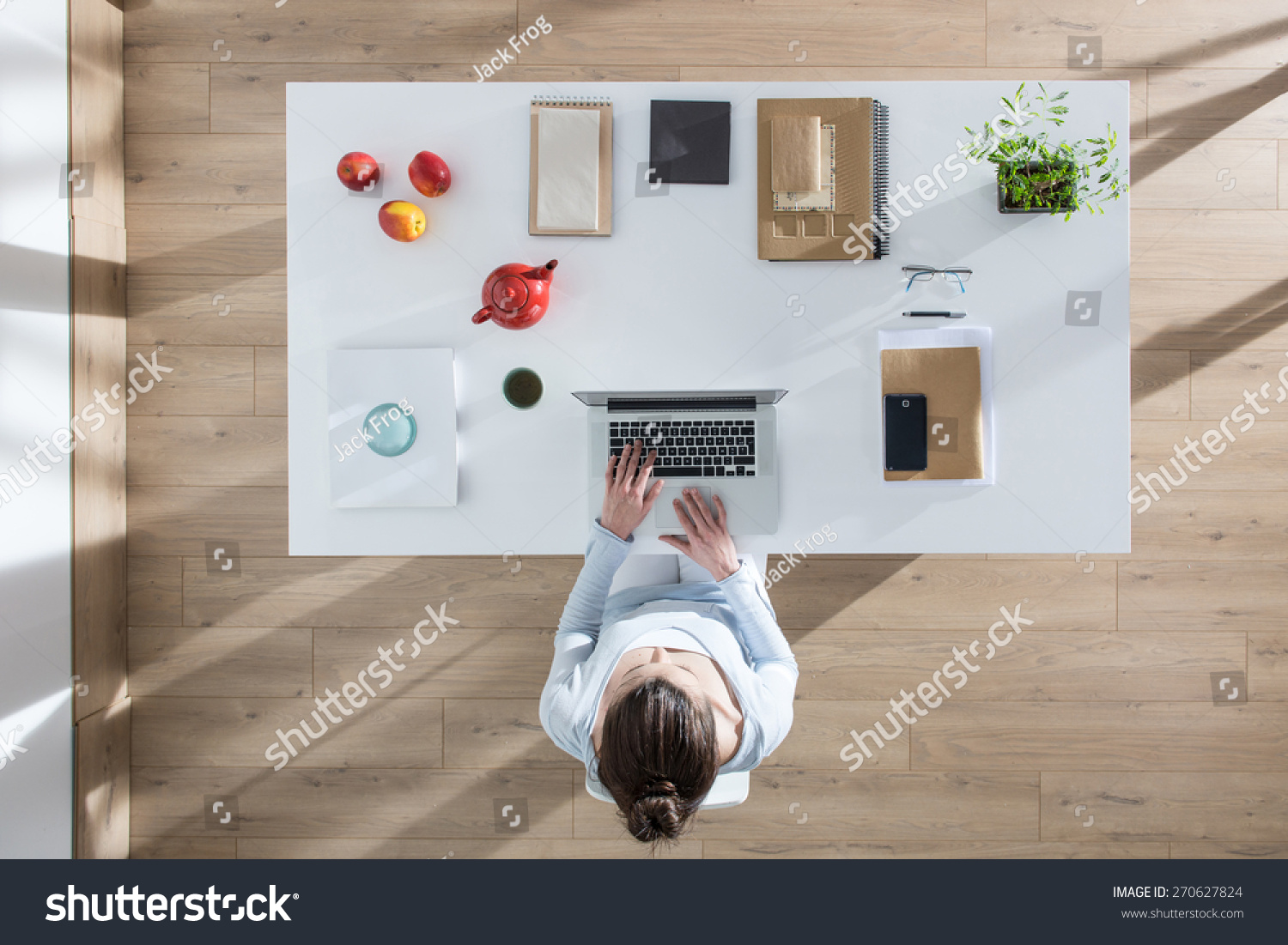 Top View Of Desk