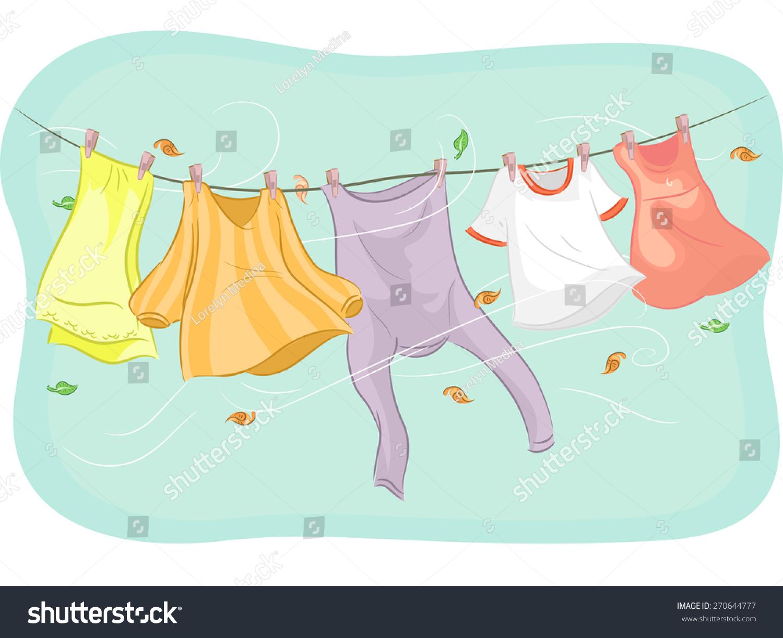 Outdoor Clothesline Clip Art Cliparts