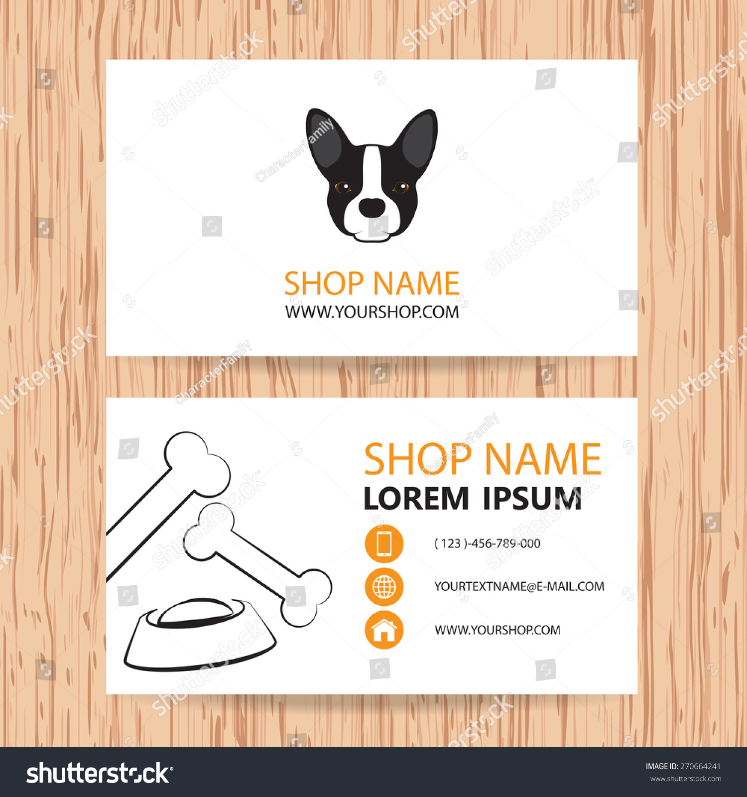 Business Card Vector Background Veterinaryshop Animal Stock Vector ...