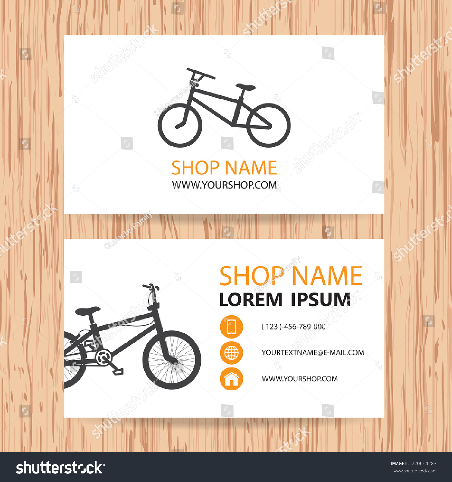 Business Card Vector Background Bike Shop Stock Vector 270664283 ...