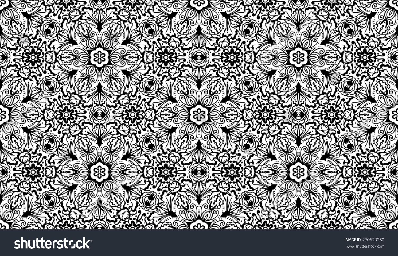 Seamless floral zentangle wallpaper pattern