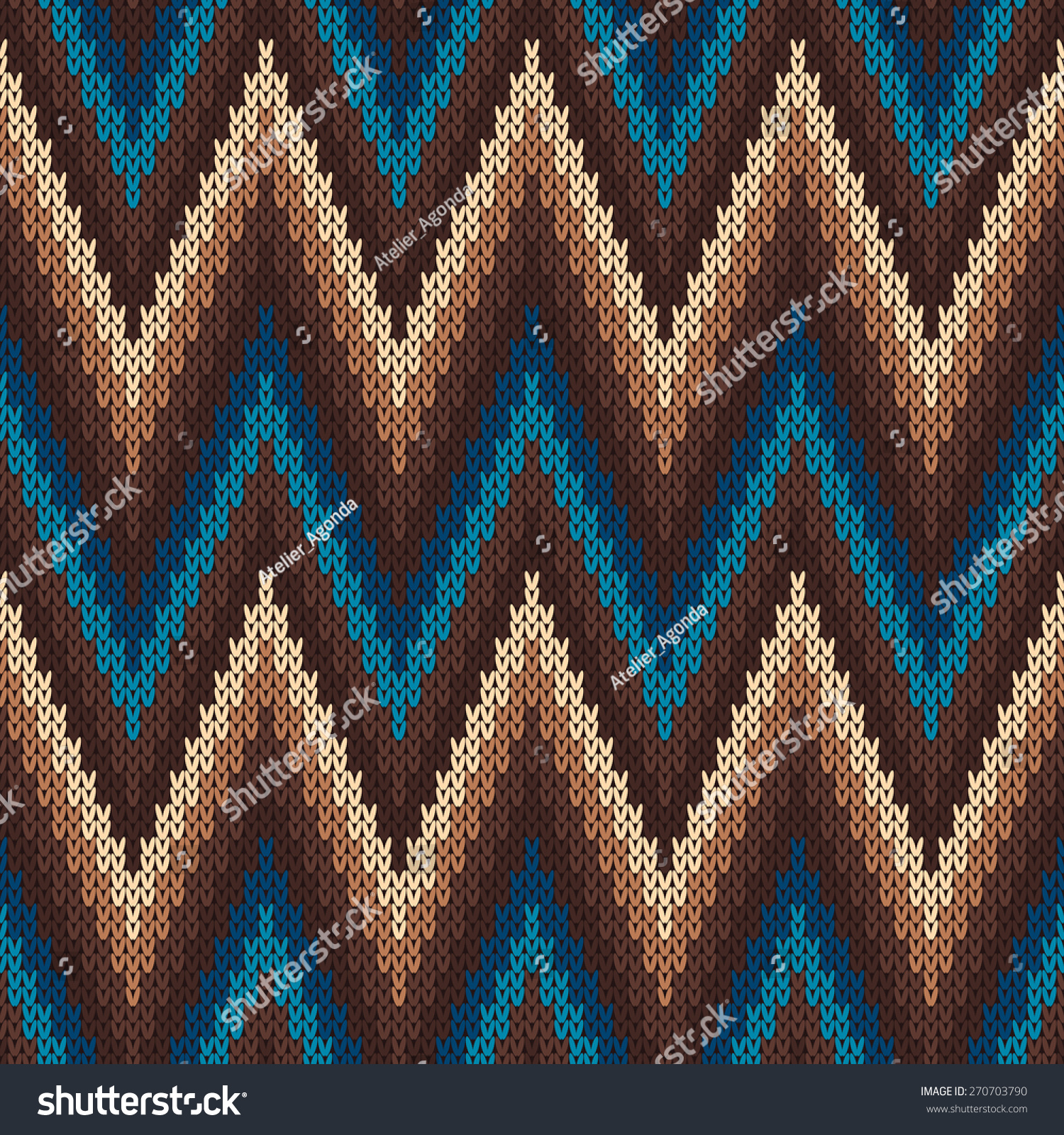 Free Baby Knitting Patterns For Blankets : Traditional Fair Isle Pattern Seamless Knitting Stock Vector 270703790 - Shut...