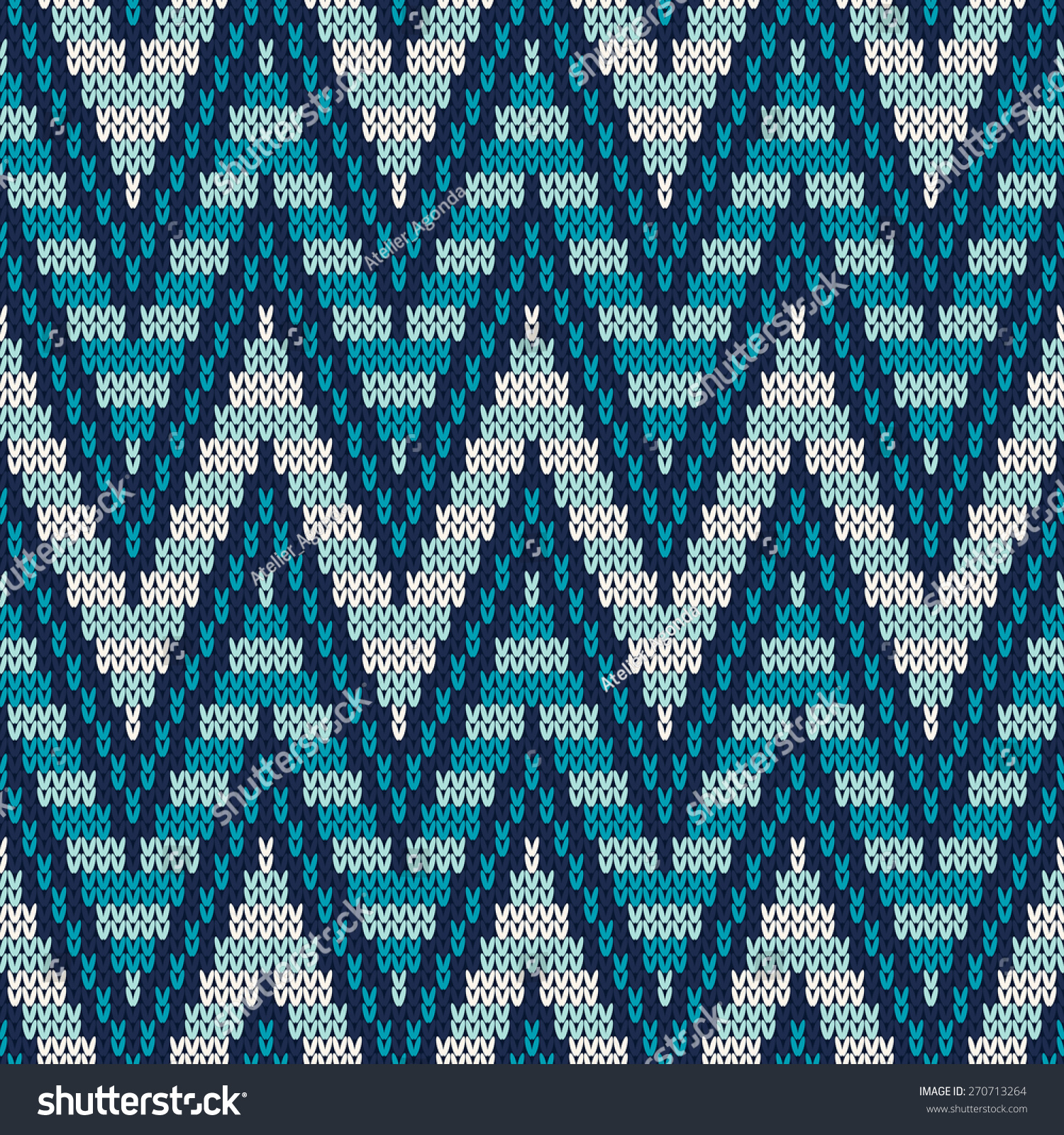 Free Baby Knitting Patterns For Blankets : Traditional Fair Isle Pattern Seamless Knitting Stock Vector 270713264 - Shut...
